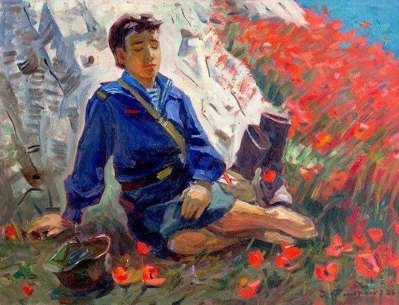 Филиппов З. И. Май 1944-го. 1986 . Холст, масло. 65х84 см