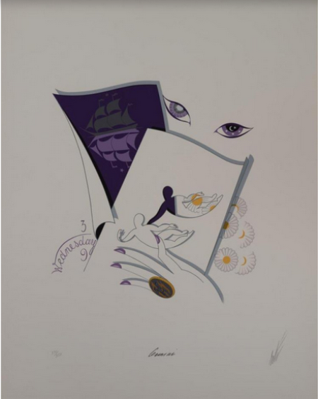 «Близнецы». Бумага, литография. 54х41 см